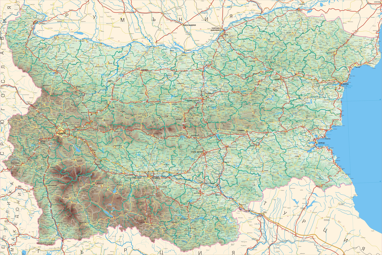 Karta Na Bulgaria.Bulgaria In Maps A Link Atlas